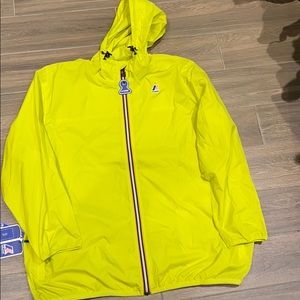 K-Way yellow jacket rain jacket size 3X
